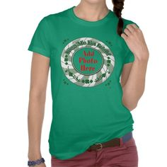 PHOTO Kiss Me I'm Irish - Green Striped Circle Shirt    ADD YOU FAVORITE PHOTO  *This design is available on several other products.