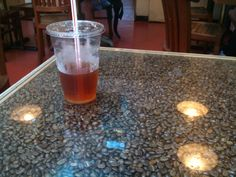coffee bean tabletop! Saw one in a coffee shop a bit ago & fell in love! I need to make one!