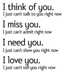 I think of you. I just can't talk to you right now. I... | Unknown Picture Quotes | Quoteswave