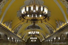 One of the amazing subway stations of Moscow. Komsomolskaya  station