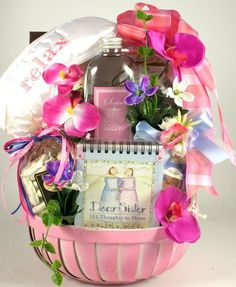 Soothing Spa Womens Gift Basket for Sisters  Beautiful Sister Gift Basket for Her -- Read more  at the image link.