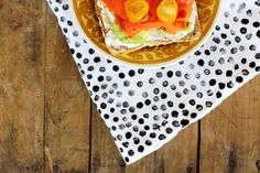 add polka dots to your 2 dollar tea towels to spice it up!