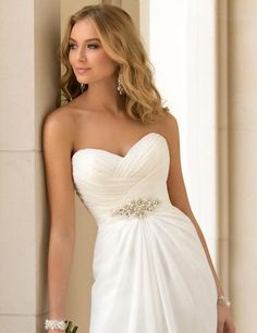 Designer Inspired Vintage Simplicity Beach Wedding Gown