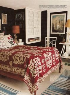 Beautiful guest room quilt