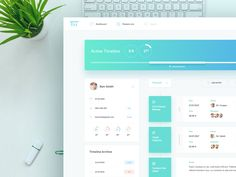 Lately, we've been working on several project management designs - and here is yet another one. The tool is aimed at established businesses that are looking to streamline their processes, making th...