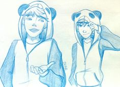 Hijack in panda jackets (^0^)