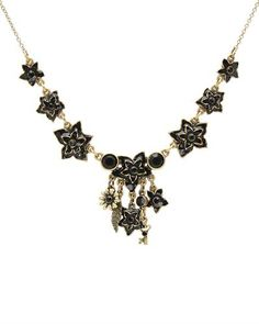 Beautiful necklace with crystals.