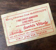 Santa's Village, Compliments, Merry Christmas, Santa Cruz, Merry Little Christmas, Wish You Merry Christmas