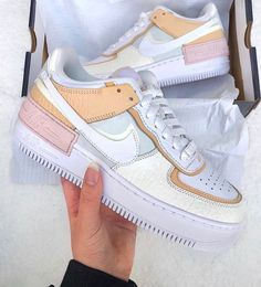 We just can't get enough of the Nike Air Force 1 Shadow, what's been your favourite colourway? let us know in the comments!  Tap the… Nike Shoes Air Force, Nike Air Force Ones, Cute Nike Shoes, Air Force 1, Sneakers Fashion, Fashion Shoes, Shoes Sneakers, Af1 Shoes, Nike Fashion