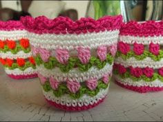 How To Crochet a Pretty Candle Holder Tulip Pattern - DIY DIY Tutorial - Guidecentral - YouTube