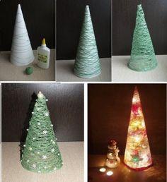 Original árbol de Navidad con cuerda