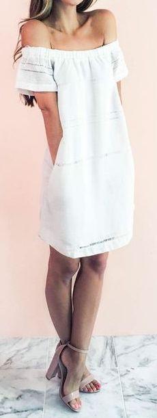 #summer #outfits / off the shoulder dress