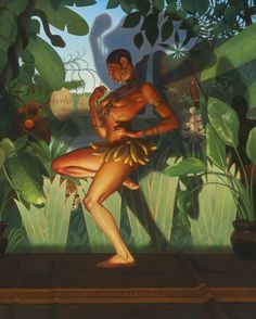 made by: Kadir Nelson , 'Forbidden Fruit' - Oil on canvas, Fine Arts Gallery  (This must have been inspired by Josephine Baker (1906-1975) from France)