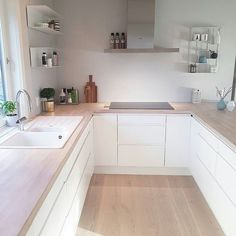 A Guide to Efficient Small Kitchen Design for Apartment: No Longer a Mystery Combination design is just one of the most useful approaches to make the . Galley Kitchen Design, Modern Kitchen Cabinets, Interior Design Kitchen, Kitchen Designs, Kitchen Sink, Home Decor Kitchen, Home Kitchens, Kitchen Ideas, Kitchen World