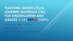 New Grade 6 Teaching Guides and Learners Materials Teaching 5th Grade, 5th Grade Reading, English Lesson Plans, English Lessons, Birthday Calendar Classroom, Classroom Observation, Lesson Plan Sample, Preschool Writing, Kindergarten Lesson Plans