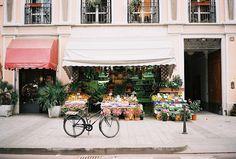 Flower street shop.