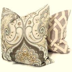 Kravet Gray Latika Ikat Decorative Pillow Cover Sqare or Lumbar - Accent Pillow, Throw Pillow, Toss Cushion