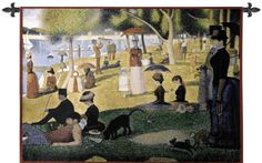 Tapestry, Sunday Afternoon by Seurat. Wall Art by Famous Artists. Think Tapestries!George Seurat (1859 -1891) was born in Paris. He founded the school for Neo-Impressionism. Pointillism is the tech...