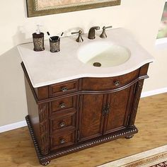 Silkroad Exclusive HYP0213CMUIC36R | Appliances Connection Bathroom Standing Cabinet, Bathroom Sink Cabinets, Bathroom Cabinet Organization, Single Sink Bathroom Vanity, Vanity Sink, Bathroom Vanities, Sinks, Bathroom Ideas, Bathroom Remodeling