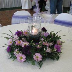 floral wreath center piece