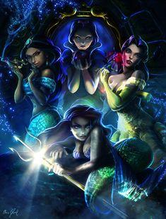 DISNEY Princesses - The Crown Contenders by DarrilAsylum on deviantART