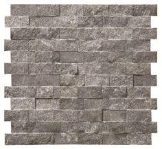 Negra Splitface Mosaic Stone Mosaics Tile, 276 x 287 mm
