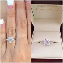 Some of the most stunning diamond engagement rings come in a Diamonds International Box.  #love #sparkle #diamond #engagement #ring #diamondsinternational #marry #me