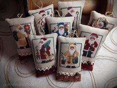 Prairie Schooler Santa collection  BEAUTIFUL Finishing work done by Faye!