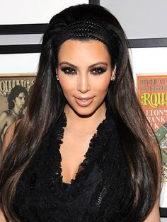 Queen of lush hair Kim. Get the look: http://www.hothair.co.uk/22-Straight-Extensions.html