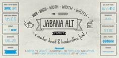 Jabana Alt & Extras – 52 fonts for tea parties