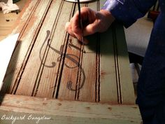 """""""How to Turn Old Wood into Signs"""" by Jean @ """"The Backyard Bungalow."""""""