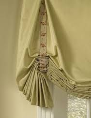 I wrote a Rethinking the Look of Things post last month to challenge rethinking the design of our window treatments. Window Drapes, Curtains With Blinds, Window Coverings, Valances, Roman Blinds, Window Cornices, Burlap Curtains, Room Window, Window Seats