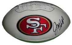 SOLD OUT! Jim Harbaugh signed SF 49ers logo full size football w/ proof photo. Proof photo of Jim signing will be included with your purchase along with a COA issued from Southwestconnection-Memorabilia, guaranteeing the item to pass authentication services from PSA/DNA or JSA. Free USPS shipping. www.AutographedwithProof.com is your one stop for autographed collectibles from San Francisco sports teams. Check back with us often, as we are always obtaining new items.