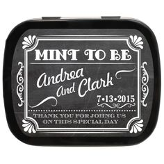 Chalkboard Mint To Be Wedding Favor Mint Tins #favorideas #chalkboardideas #vintagewedding
