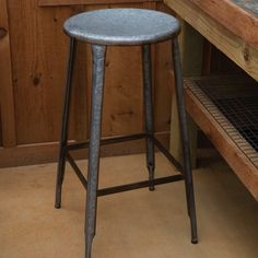 Tall Vintage Style Metal Stool