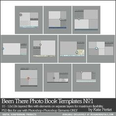 Been There Photo Book Templates No. 01 - Digital Scrapbooking Templates