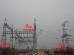 1000KV power transmission line steel tower (UHV TOWER)  1000KV power transmission line system is at new voltage level in china, which belongs to ultra high voltage (UHV) transmission tower, and its fabrication more complicated. MEGATRO provided top quality towers for 1000KV power transmission line for Chinese clients. These type towers concerns many aspect for design, loadings, fabrication and other matters. Transmission Tower, Zhuhai, Qingdao, High Voltage, Electrical Equipment, Towers, Utility Pole, Chinese, Steel