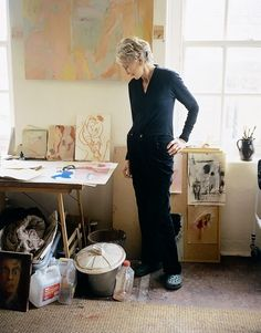 Artist, Rose Hilton in her studio photo Anthony Crolla Britain / Cornwall Artist Art, Artist At Work, Tate Gallery, French Artists, Painting Inspiration, Portrait Inspiration, American Artists, Art Studios, Female Art