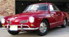 1971 red VW Kharmann Ghia!