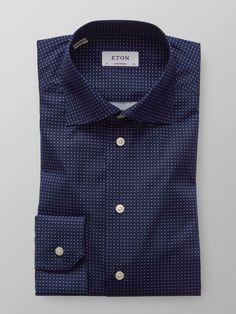 Micro Print Poplin Shirt