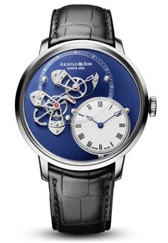 Arnold & Son DSTB white gold with blue PVD dial - Perpetuelle