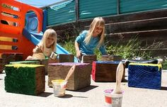 Giant Outdoor Games DIY | ... DIY: giant wooden blocks in wood social diy with Kid Garden Game