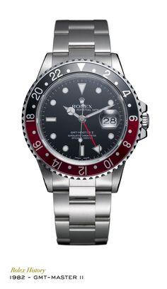 The Rolex GMT-Master II introduced an independently adjustable hour hand to set the watch to a second time zone without affecting the minute and seconds hands. The rotatable 24-hour graduated bezel can display a third time zone. #RolexOfficial