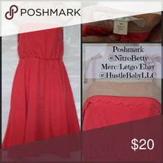 LAUREN CONRAD Sundress Coral and cream soft Flowy dress - LC LC Lauren Conrad Dresses Mini