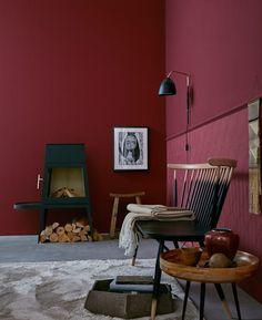 Pantone Estas são as cores do ano - Ratgeber - Wohnen Cozy Living Rooms, Apartment Living, Living Room Decor, Living Spaces, Red Interiors, Colorful Interiors, Pantone, Salons Cosy, Cosy Corner