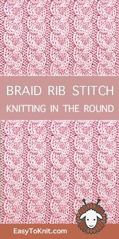 Crochet Stitches Cable Free Knitting 45 Ideas For 2019 Rib Stitch Knitting, Crochet Cable Stitch, Knitting Stiches, Knitting Charts, Loom Knitting, Easy Knitting, Crochet Stitches, Crochet Mittens Free Pattern, Lace Knitting Patterns