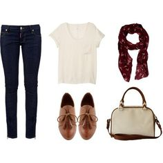 Easy Outfit with Oxfords....love oxfords but maybe trade out for toms :)