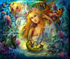 Water faery by Fantasy-fairy-angel on DeviantArt * Fairy Myth Mythical Mystical Legend Elf Faerie Fae Wings Fantasy Elves Faries Sprite Nymph Pixie Faeries Hadas Enchantment Forest Whimsical Whimsy Mischievous Josephine Wall, Magical Creatures, Fantasy Creatures, Fantasy Kunst, Fantasy Art, Fantasy Fairies, Fantasy Images, Art Magique, Water Fairy