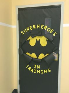 Batman Inspired classroom door!                                                                                                                                                                                 More #homedecor #decoration #decoración #interiores