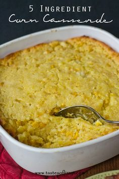 5 Ingredient Corn Casserole